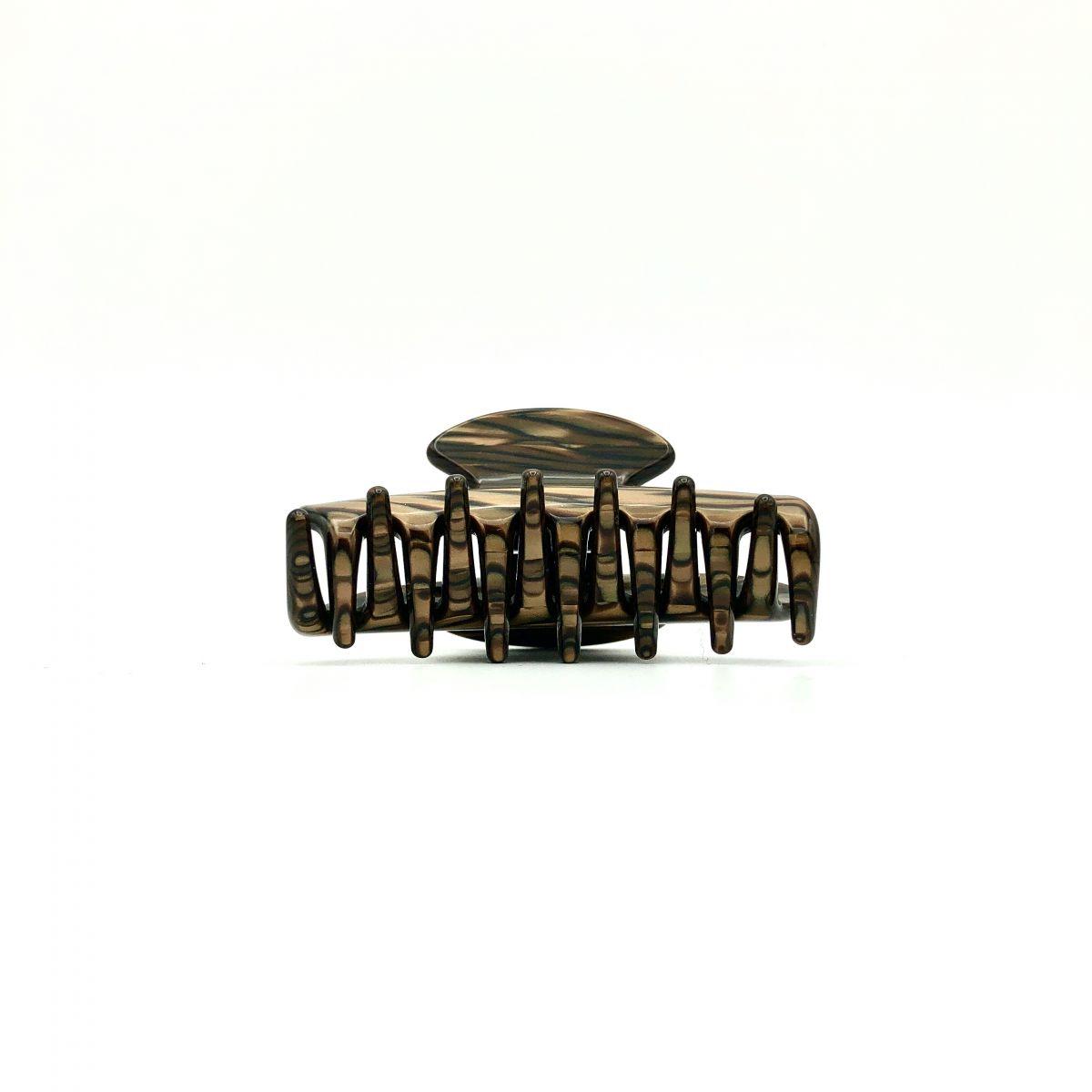 Haarklammer dunkelbraun - klein - 6,5 cm