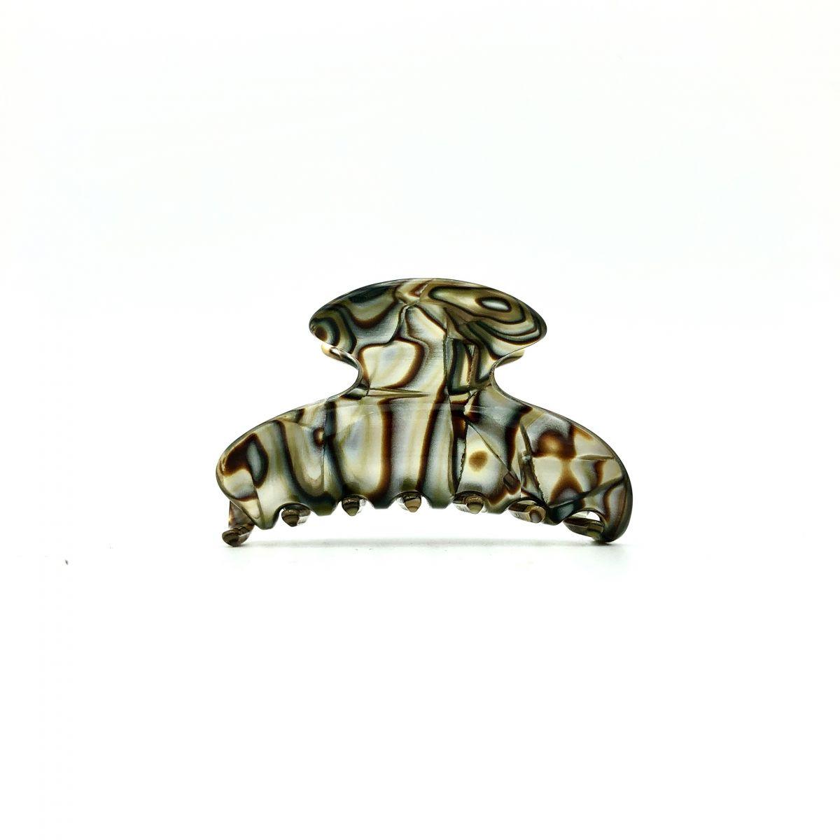 Haarklammer perlmutt/braun - klein - 6,5 cm
