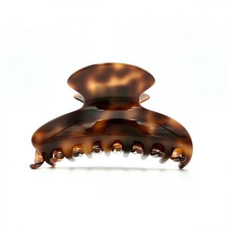 Haarklammer rotbraun - mittel - 9 cm