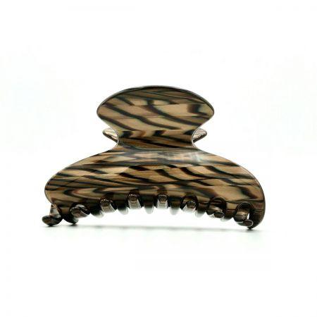 Haarklammer dunkelbraun - mittel - 9 cm