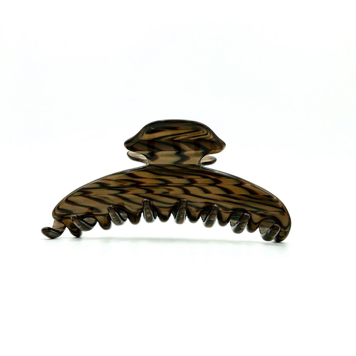 Haarklammer dunkelbraun - mittel, eng - 9 cm