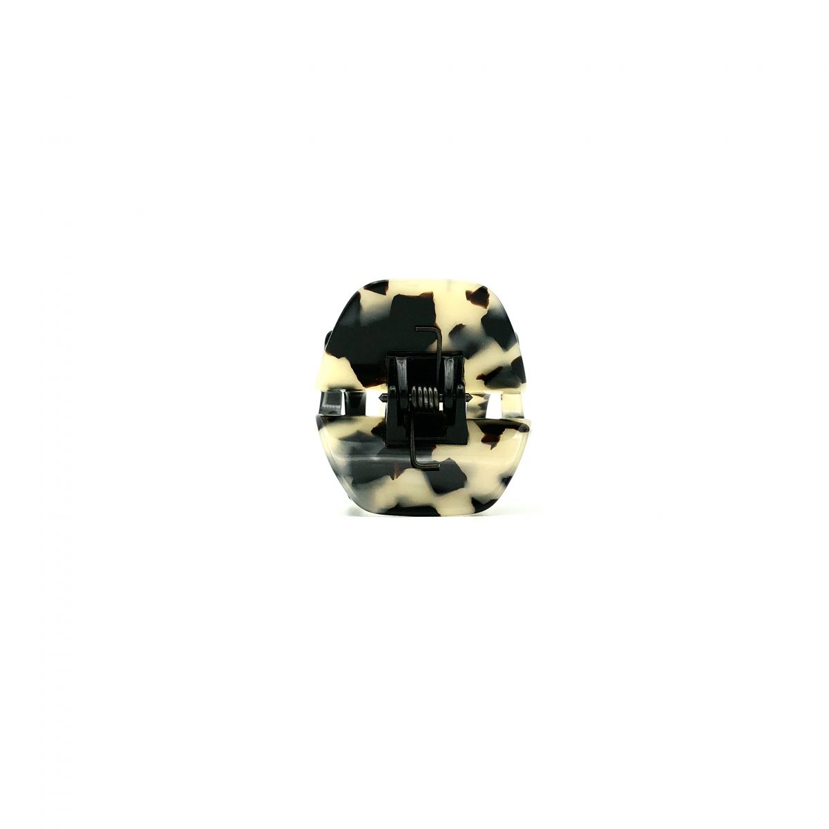 Haarklammer schwarz/beige - kurz, mittel - 4 cm