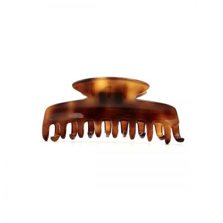 Haarklammer rotbraun - eng, klein - 8 cm