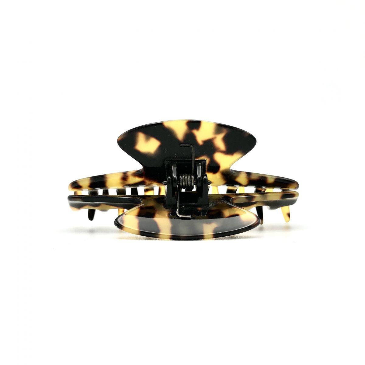 Haarklammer schwarz/honig - eng, klein - 8 cm