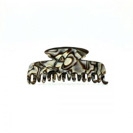Haarklammer perlmutt/braun - eng, klein - 8 cm