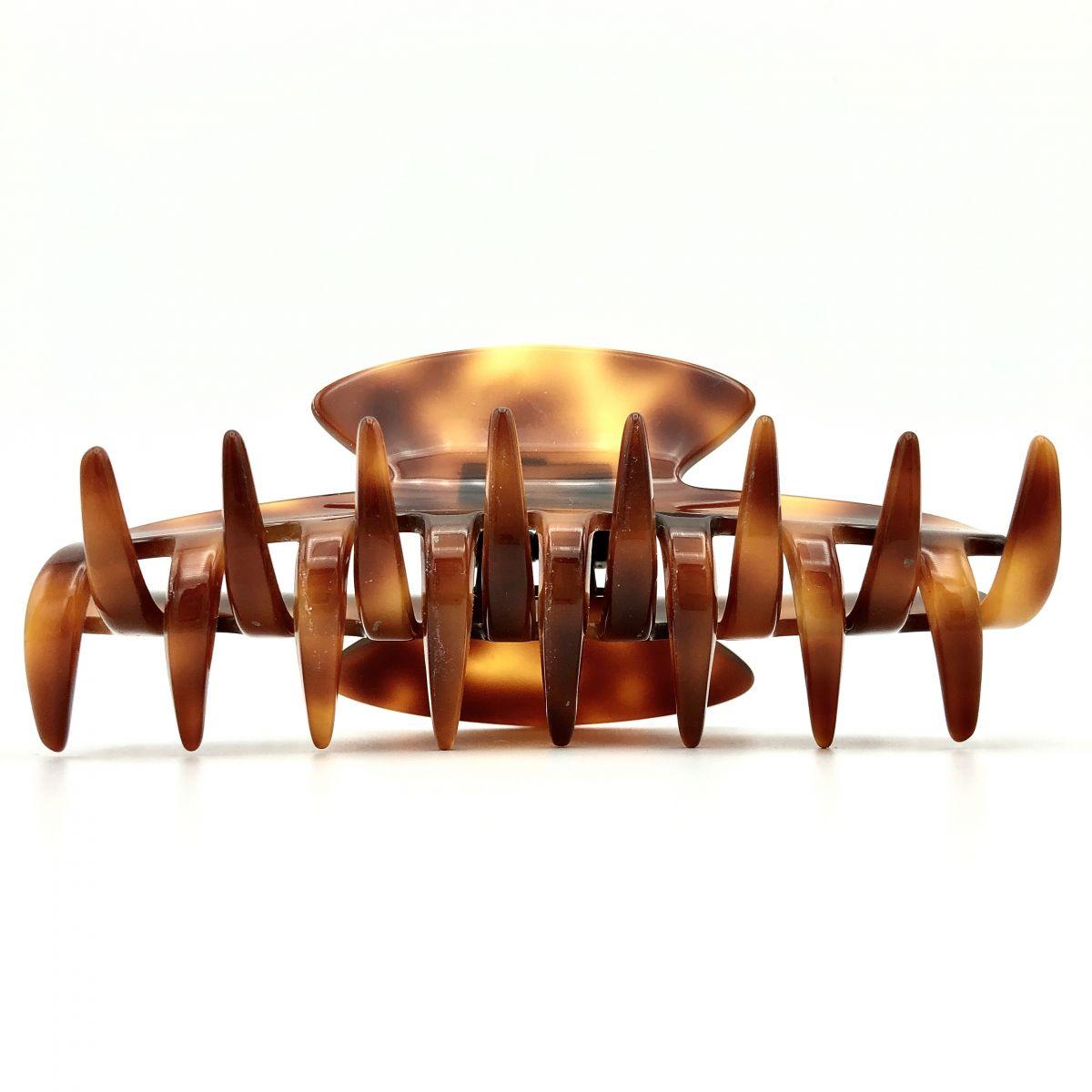Haarklammer rotbraun - groß - 11 cm