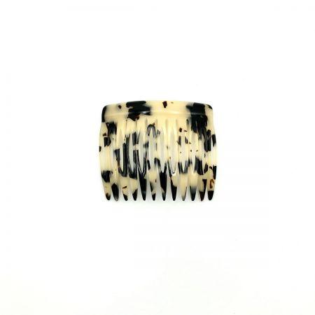 Steckkamm schwarz/beige - 6 cm