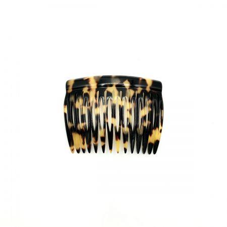 Steckkamm schwarz/honig - 7 cm