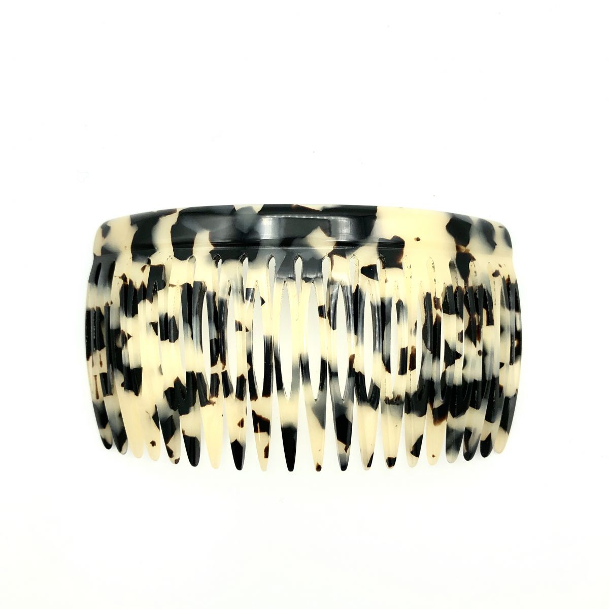 Steckkamm schwarz/beige - 10 cm