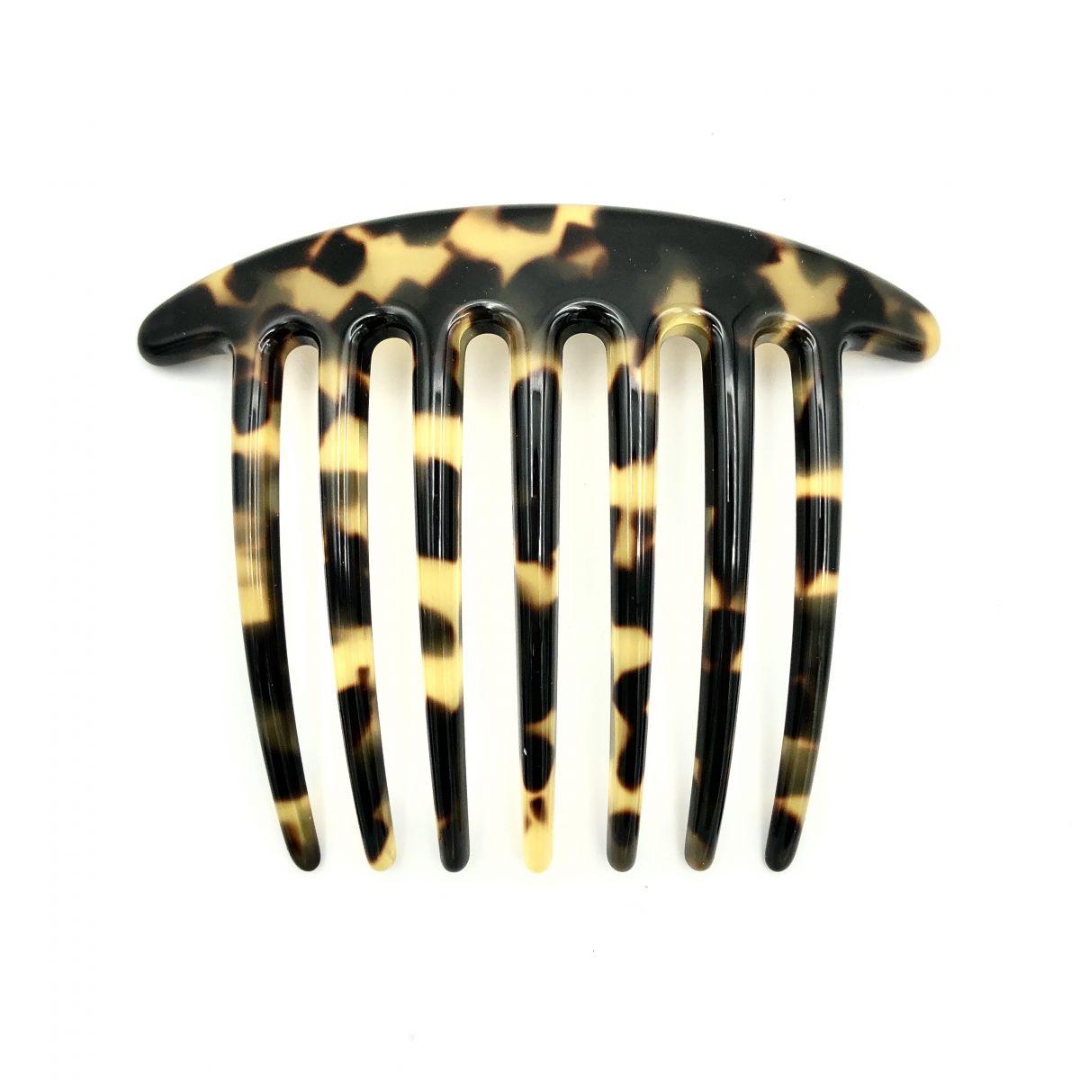 Steckkamm schwarz/honig - extra lange Zähne - 10,5 cm