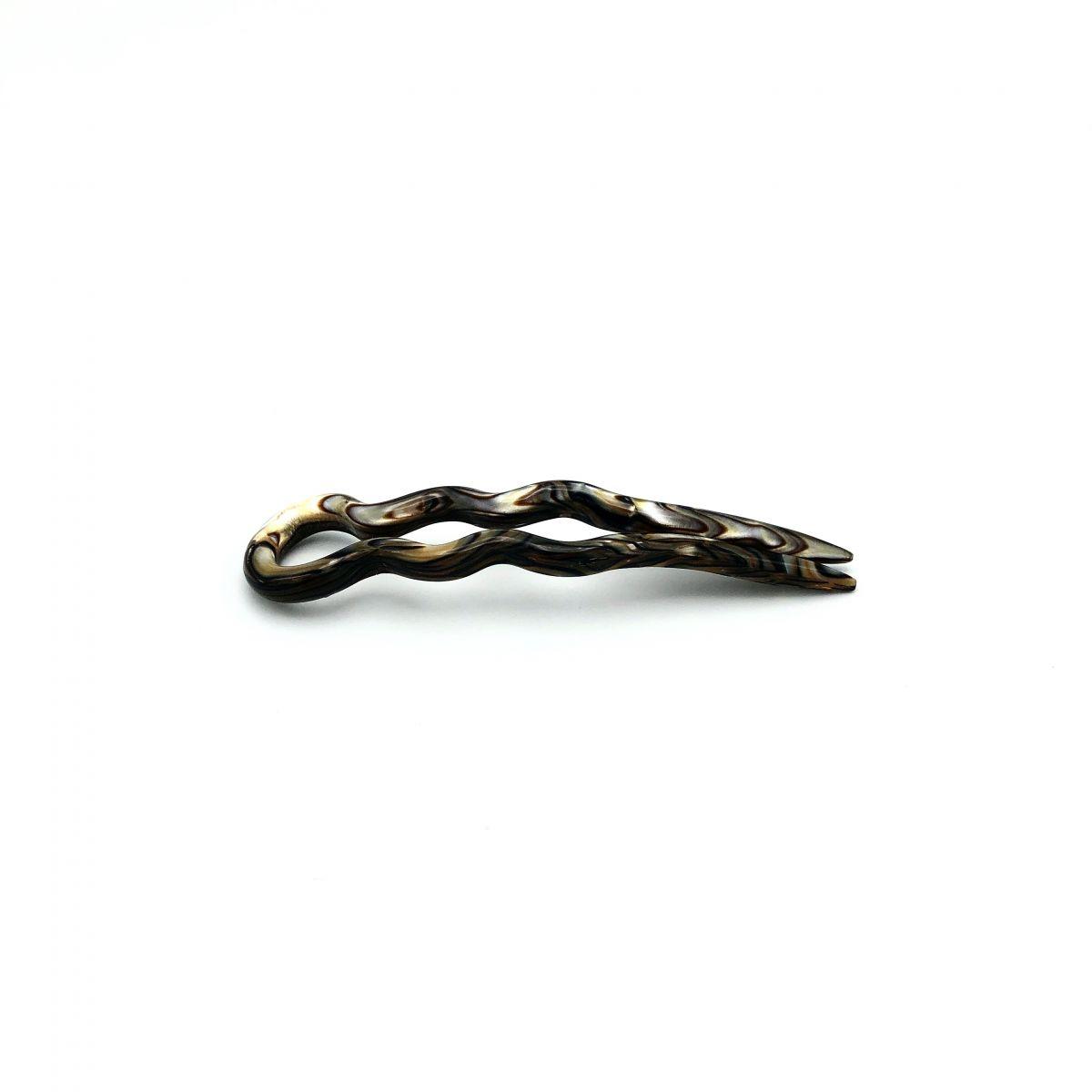 Haarnadel perlmutt/braun - 8,5 cm