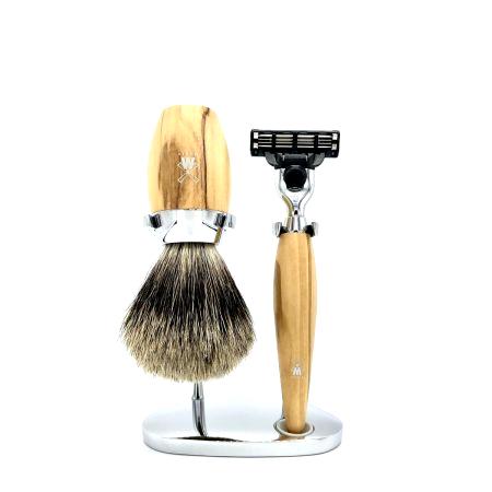 Rasier-Set von Mühle - Olivenholz mit Rasierer M3