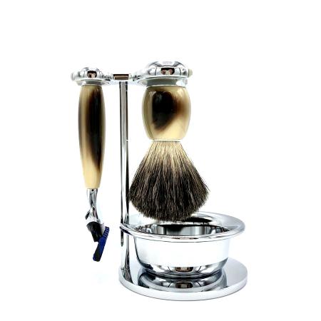 Rasier-Set von Mühle - hornfarben mit Rasierer Fusion