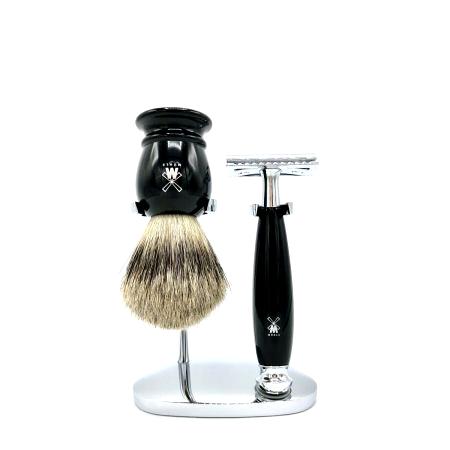Rasier-Set von Mühle - schwarz mit Rasierhobel