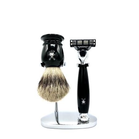 Rasier-Set von Mühle - schwarz mit Rasierer M3