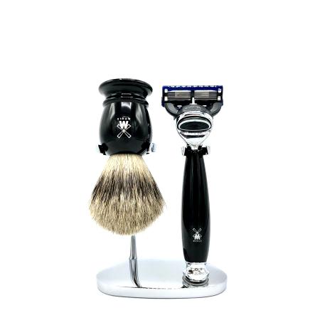 Rasier-Set von Mühle - schwarz mit Rasierer Fusion