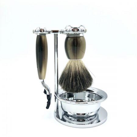 Rasier-Set von Mühle - hornfarben mit Rasierer M3