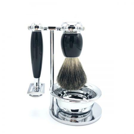 Rasier-Set II von Mühle - schwarz mit Rasierhobel