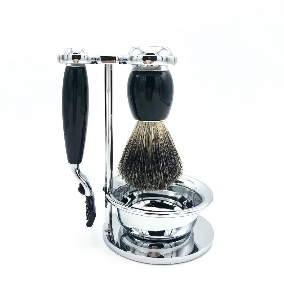 Rasier-Set II von Mühle - schwarz mit Rasierer M3