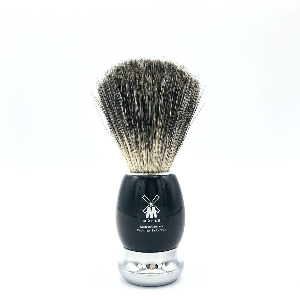 Rasier-Set II von Mühle - schwarz mit Rasierer Fusion