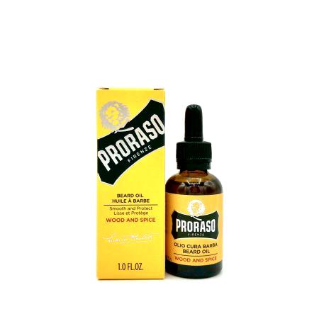 Bartöl von Proraso - wood & spice - 30 ml