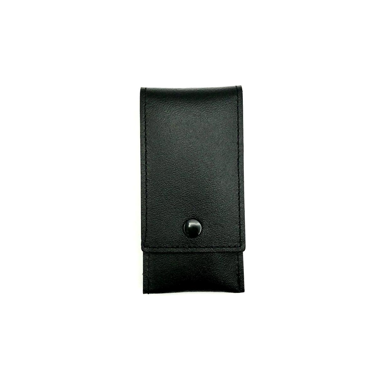 Taschen-Etui schwarz, 3teilig, Edelstahl rostfrei