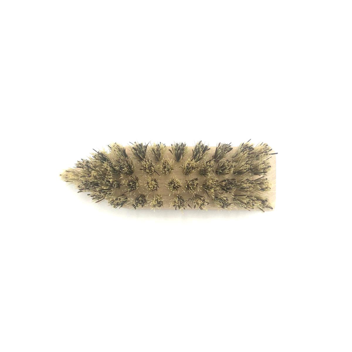 Schuh-Schmutzbürste klein mit Pflanzenfaser