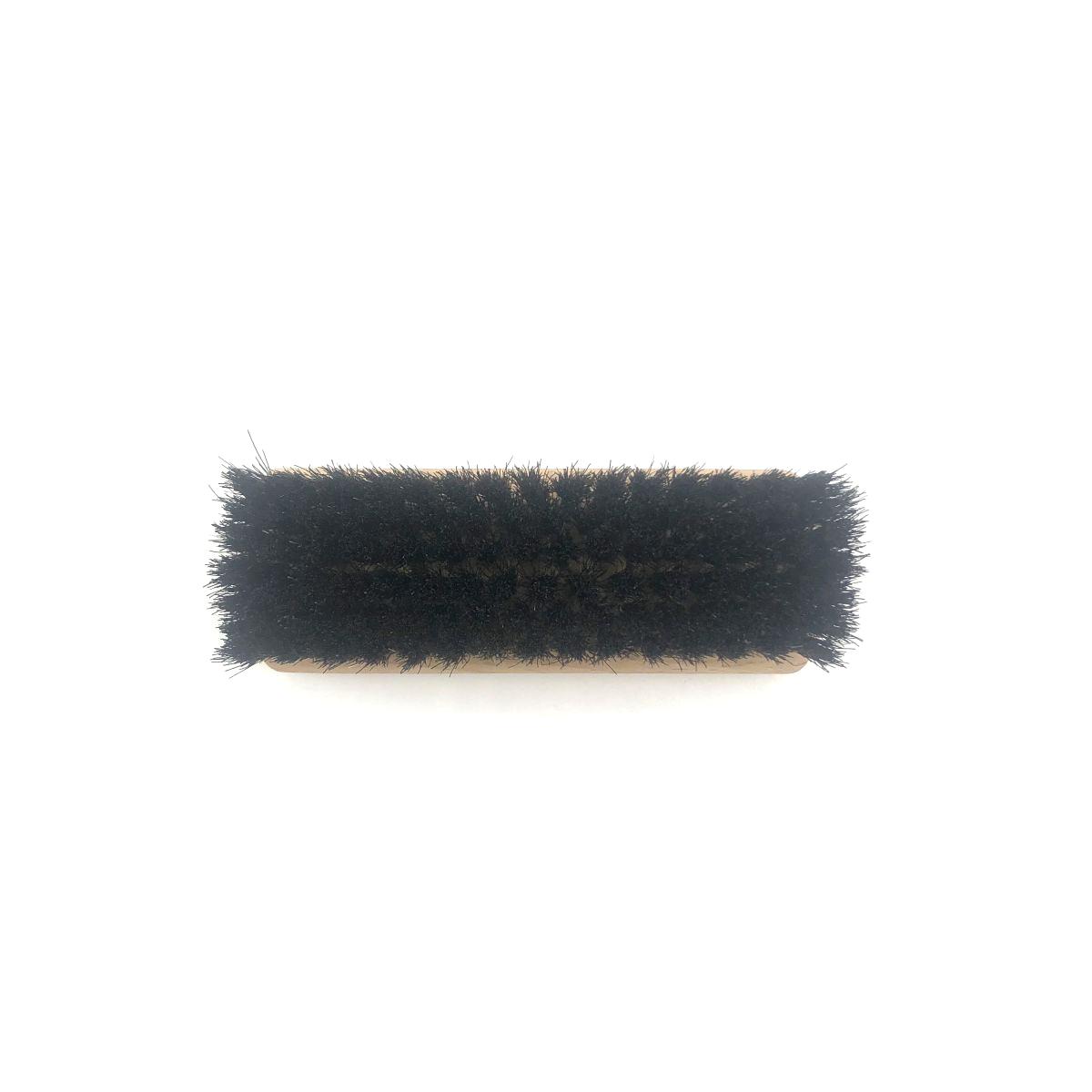 Schuh-Glanzbürste klein mit dunklem Naturhaar